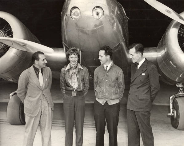 the history of the amelia earhart and the story of her atlantic ocean flight during the feminist opp